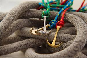 cord anchor bracelets in ropes