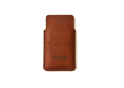 Flap iphone leather case brown
