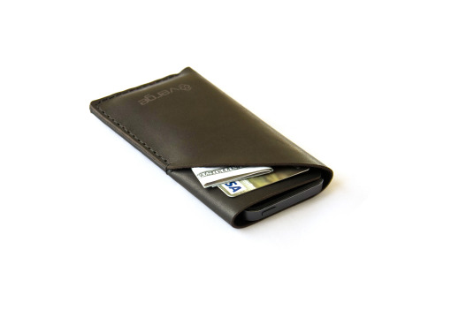 iphone leather case black