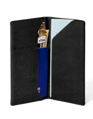 Leather Travel book Black