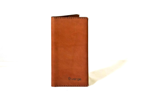 Leather Travel book Brown