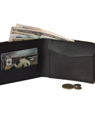 Verge Bill-Fold Coin Wallet black