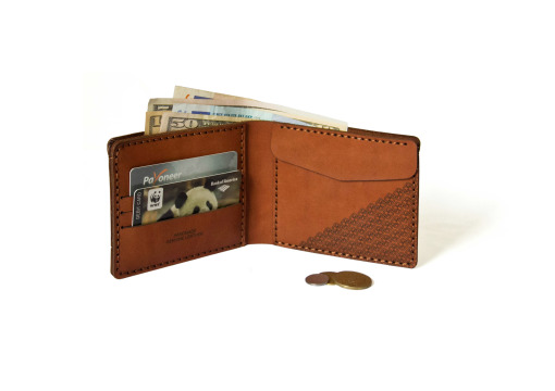 Verge Bill-Fold Coin Wallet brown