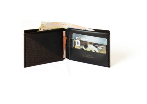 Verge Bill-Fold Wallet black leather