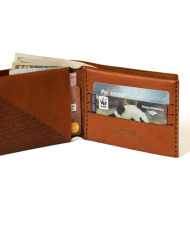 Verge Bill-Fold Wallet brown leather