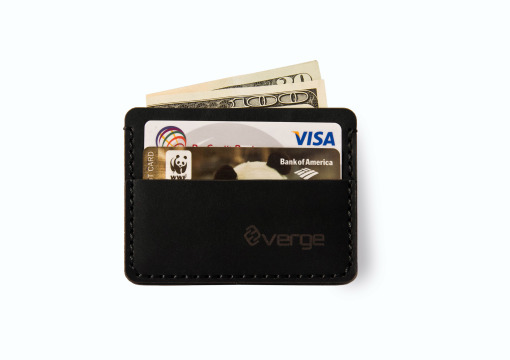 Verge Minimalist Wallet black leather