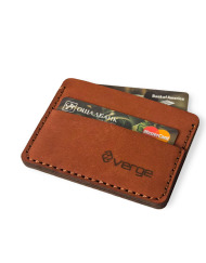 Verge Minimalist Wallet brown leather